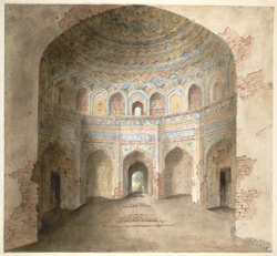 Interior of Afzal Khan's tomb at Agra